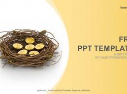 金融理财行业/金鸡蛋PPT模板下载