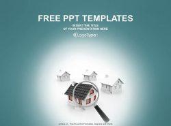 乡村房屋PPT模板下载