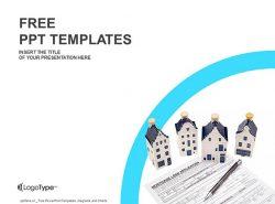 房屋抵押贷款PPT模板下载