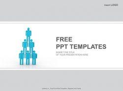 人体金字塔商业PPT模板下载