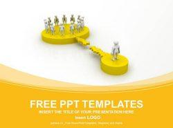 团队合作关系黄色PPT模板
