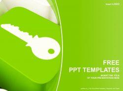 钥匙按钮PPT模板下载