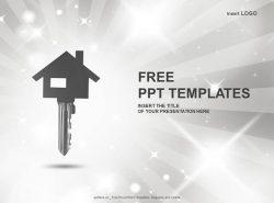 房屋钥匙PPT模板下载