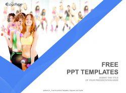 运动少女PPT模板下载