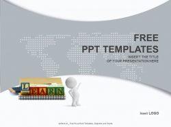 书本学习PPT模板下载