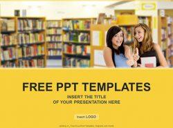 图书馆PPT模板下载