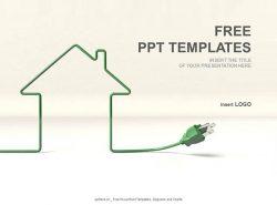 房屋电线PPT模板