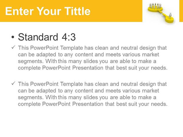 团队合作关系黄色PPT模板_预览图2