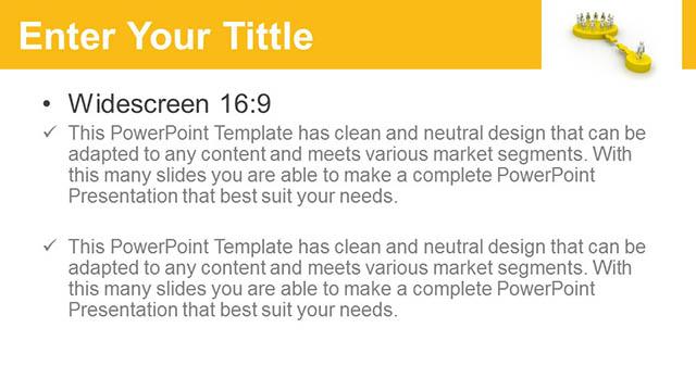 团队合作关系黄色PPT模板_预览图5
