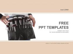 化妆刷PPT模板下载