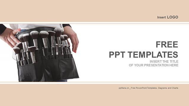 化妆刷PPT模板下载_预览图4