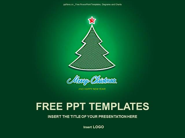 圣诞树PPT模板下载_预览图1