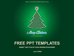圣诞树PPT模板下载
