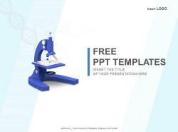 显微镜PPT模板下载
