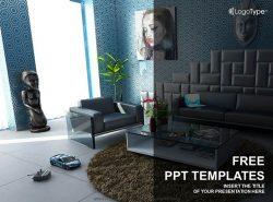 室内设计PPT模板下载