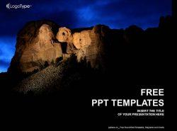 夜晚的大山PPT模板下载