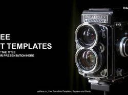 旧相机PPT模板下载