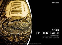 一美元纸币PPT模板下载