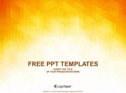 橙色抽象PPT模板下载