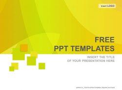 橙色波纹PPT模板下载