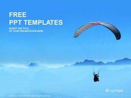 滑翔伞运动PPT模板下载