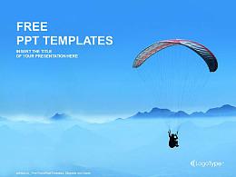 滑翔傘運動PPT模板下載