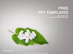叶子上的药片PPT模板下载