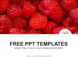 树莓PPT模板下载
