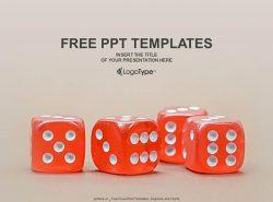 红色骰子PPT模板下载