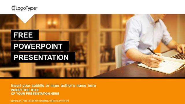 办公室白领PPT模板下载_预览图4