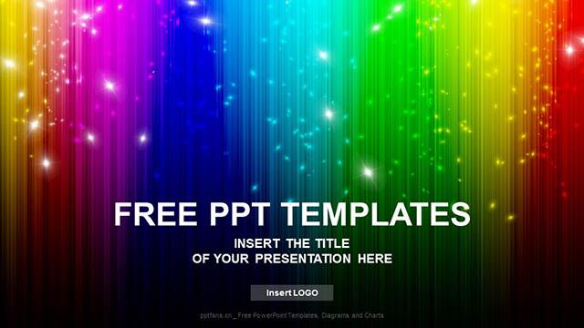 七彩取色板黑色背景PPT模板下载_预览图4