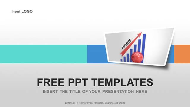 表格中利润上升的箭头PPT模板下载_预览图4