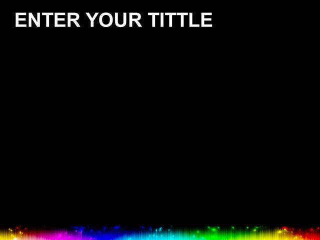 七彩取色板黑色背景PPT模板下载_预览图2