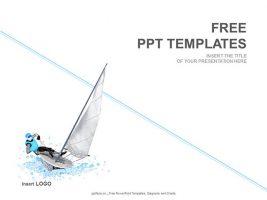 帆船运动PPT模板下载