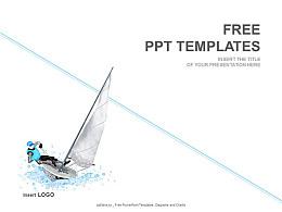 帆船運動PPT模板下載