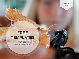 美味海鮮PPT模板下載