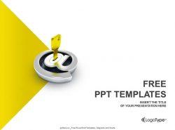 电子邮箱加密PPT模板下载