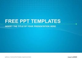蓝色简洁PPT模板下载