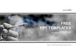 吸烟者PPT模板下载