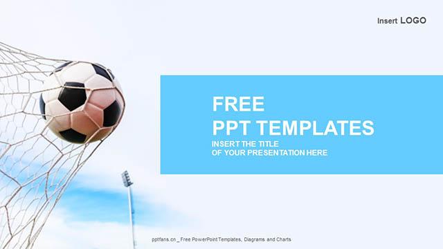 飞入网中的足球PPT模板下载_预览图4