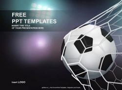 进入网中的足球PPT模板下载
