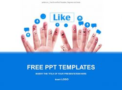 社交网络PPT模板下载
