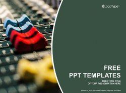 调音台PPT模板下载