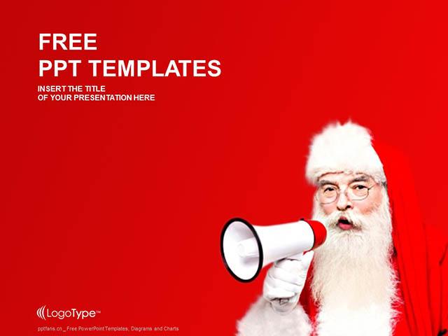 圣诞老人PPT模板下载_预览图1