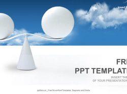 天平PPT模板下载