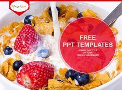 草莓甜点PPT模板下载