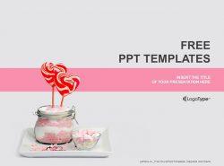 爱心棒棒糖PPT模板下载