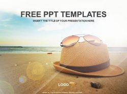 帽子和眼镜PPT模板下载