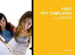 青少年读书PPT模板下载