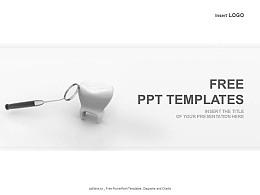 牙齒和口腔鏡PPT模板下載
